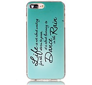 cheap -Case For Apple iPhone X iPhone 8 Ultra-thin Pattern Back Cover Word / Phrase Soft TPU for iPhone X iPhone 8 Plus iPhone 8 iPhone 7 Plus
