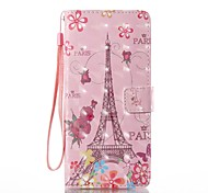 For Case Cover Card Holder Wallet with Stand Flip Pattern Full Body Case Eiffel Tower Hard PU Leather for Samsung Galaxy Note 8