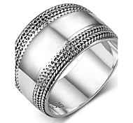 Women's Band Rings Vintage Sterling Silver Geometric Jewelry For Daily Christmas