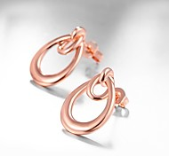 Women's Stud Earrings Jewelry Cute Style Fashion Rose Gold Plated Alloy Flower Drop Jewelry For Daily Work