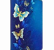 Недорогие -Кейс для Назначение SSamsung Galaxy Чехол планшетный случаи Бабочка Твердый Кожа PU для Tab A 10.1 (2016)