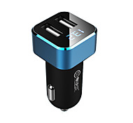 cheap -Chexiaoer C15  Car Charger Display Voltage 2 USB Ports 3.1A DC 12V-24V
