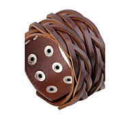 Men's Leather Bracelet Fashion Rock Leather Round Jewelry For Daily Casual