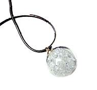 cheap -Women's Luminous Pendant Necklace  -  Personalized Luminous Fluorescent Circle Light Green Necklace For Halloween Club