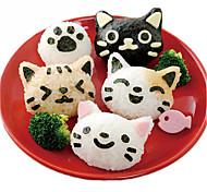 Недорогие -Файлы cookie Кошка Повседневное использование Для Sandwich Для Райс Для торта Для приготовления пищи Посуда Печенье Пластик Своими руками
