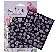 1 Nail Art Sticker  Pattern Accessories Grooming Art Deco/Retro 3D Nail Stickers Sticker DIY Supplies Makeup Cosmetic Nail Art Design