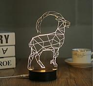 cheap -1 Set, Popular Home Acrylic 3D Night Light LED Table Lamp USB Mood Lamp Gifts, Antelope