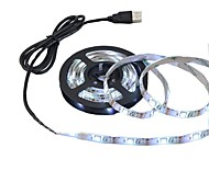 5M 23W USB Power Supply LED Strip light lamp 300leds 2835SMD White warm white Light LED Strip Lamp DC5V For TV Background Lighting 1PCS