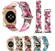 38/42mm Geometric Prints Colorful PU Leather Watch Band Bracelet for Apple Watch 3 Iwatch 1/2 Series