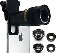 CAMRY Smartphone Camera Lenses 0.4X0.63X Wide Angle Lens 10X Macro Lens 9X Long Focal Lens Fish-eye Lens for ipad iphone Huawei xiaomi samsung