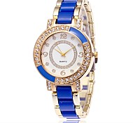 cheap -Women's Wrist watch Casual Watch Simulated Diamond Watch Chinese Quartz Imitation Diamond Large Dial Alloy Band Candy color Casual Elegant