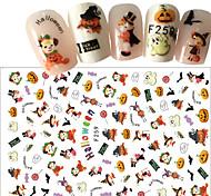Недорогие -1pcs Halloween 3D-стикеры для ногтей Стикер Компоненты для самостоятельного изготовления Новый год 3-D Шаблон шаблона для ногтей