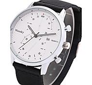 Men's Dress Watch Fashion Watch Chinese Quartz Calendar / date / day Fabric Band Casual Cool Black