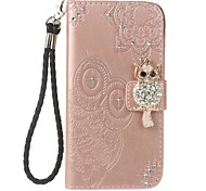 cheap -Case For Sony Xperia XA Ultra Sony Card Holder Wallet Rhinestone with Stand Flip Pattern Embossed Full Body Cases Owl Hard PU Leather for