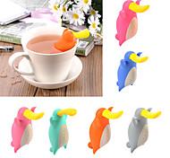 Недорогие -platypus форма инфузатор чайник силиконовый чай сетчатый мешок кофе чай инструмент случайный цвет