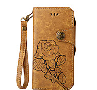 For Case Cover Card Holder Wallet with Stand Flip Embossed Full Body Case Flower Hard PU Leather for Nokia Nokia 6 Nokia Lumia 640 Nokia