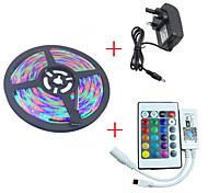 economico -HKV Set luci 300 LED Colori primari Accorciabile Oscurabile Impermeabile Colore variabile Auto-adesivo Collagabile CC 12V DC 12V