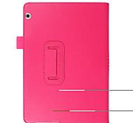 para la cubierta del caso con el cuero lleno de la PU del color sólido del caso lleno del cuerpo del tirón del soporte para el huawei t3