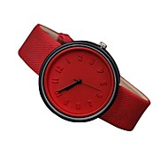 Women's Fashion Watch Quartz Genuine Leather Band Casual Black White Blue Red Orange Green Pink