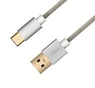 hunda usb 2.0 cable de conexión usb 2.0 a usb 2.0 tipo c cable de conexión macho - macho 1.2 m (4 pies)