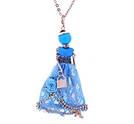 Women's Pendant Necklaces Jewelry Princess Lace Alloy Bohemian Simple Style Jewelry For Party Casual