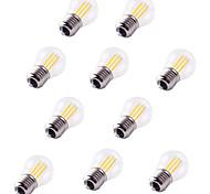 Недорогие -10 шт. 4 Вт. 360 lm E27 LED лампы накаливания G45 4 светодиоды COB Декоративная Тёплый белый Холодный белый AC 220-240V