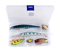 11 pcs Fishing Accessories Set Lure Packs g/Ounce mm inch,Plastic Carbon Steel Sea Fishing Bait Casting Ice Fishing Freshwater Fishing