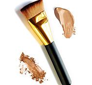Недорогие -1шт мягкая длинная золотая ручка плоский фундамент макияж кисть основа грунтовка рыхлый порошок румяна контур косметическая кисть