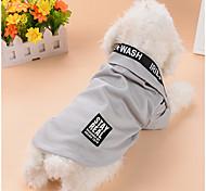 Собака Футболка Спортивный стиль  Одежда для собак Воздухопроницаемость На каждый день Мода Буквы и цифры Серый Лиловый Синий Розовый