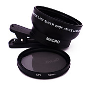 Mobile Phone Lens Lens with Filter Wide-Angle Lens Macro Lens Aluminium Alloy 10X and above 62
