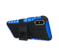 cheap -For iPhone X iPhone 8 Plus Case Cover Shockproof with Stand Back Cover Case Solid Color Armor Hard TPU for Apple iPhone X iPhone 8 Plus