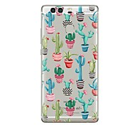 cheap -Case For Huawei P9 P10 Transparent Pattern Back Cover Transparent Tree Flower Soft TPU for Huawei P10 Plus Huawei P10 Lite Huawei P10