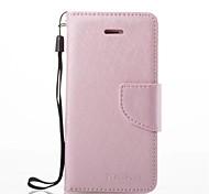 Назначение iPhone 7 iPhone 7 Plus Чехлы панели Бумажник для карт со стендом Флип Чехол Кейс для Сплошной цвет Твердый Искусственная кожа