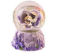 Pelotas Caja de música Juguetes Circular Cristal Piezas Unisex Cumpleaños día de San Valentín Regalo