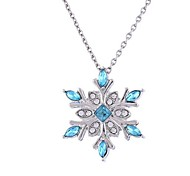 Women's Pendant Necklaces Imitation Diamond Flower Alloy Fashion Classic Jewelry For Evening Party Christmas