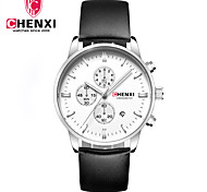 Men's Dress Watch Fashion Watch Wrist watch Chinese Quartz Calendar Leather Band Charm Luxury Cool Casual Black