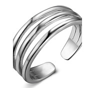 Women's Band Rings Adjustable Sterling Silver Geometric Jewelry For Festival