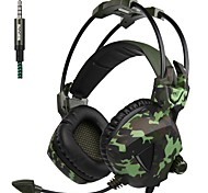 baratos -A931 Sobre o ouvido Bandana Com Fio Fones Dinâmico Plástico Games Fone de ouvido Com controle de volume Com Microfone Fone de ouvido