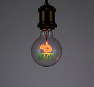 1pcs G80 Love E27 Classical Vintage Retro Edison Light Aerolux Style Sparking Light Bulb Christmas Lights for Home AC220-240V