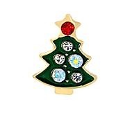 Недорогие -Муж. Жен. Броши Синтетический алмаз Мода Рождество Сплав Дерево жизни Бижутерия Назначение Рождество градация
