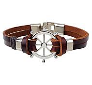 cheap -Men's Leather Bracelet - Leather Fashion, Hip-Hop Bracelet Coffee For Casual