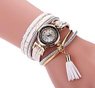 cheap -Women's Fashion Watch Simulated Diamond Watch Bracelet Watch Chinese Quartz PU Band Vintage Elegant Casual Black White Blue Silver Red