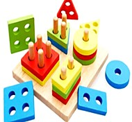 Обучающая игрушка Деревянные пазлы Цилиндрическая Треугольник Прямоугольная Универсальные