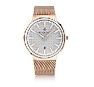 Homens Relógio de Moda Relógio Casual Chinês Quartzo Mostrador Grande Rosa Folheado a Ouro Lega Banda Pendente Casual Prata