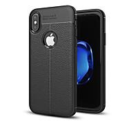 Недорогие -Кейс для Назначение Apple iPhone X iPhone 8 Защита от удара Кейс на заднюю панель Сплошной цвет Мягкий Силикон для iPhone X iPhone 8