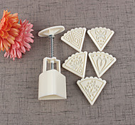 6pcs набор лук торт формы цветок плесень 50г торт печенье десерт формы выпечки инструмент