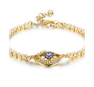Women's Tennis Bracelet AAA Cubic Zirconia Bling Bling Gold Plated Geometric Jewelry For Halloween Daily