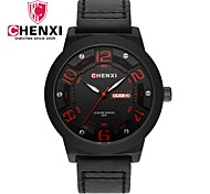 Men's Dress Watch Fashion Watch Chinese Quartz Calendar / date / day Leather Band Charm Luxury Casual Cool Black