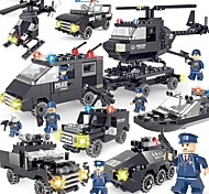 DIY KIT Building Blocks Police car Helicopter Toys Vehicles Simple DIY Classic New Design Kids Adults' Pieces