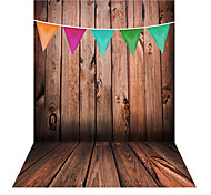 Andoer 1.5 * 2m Photography Background Backdrop Wooden Wall Colorful Flag Pattern